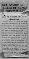 Article telling about Walter Glomb death